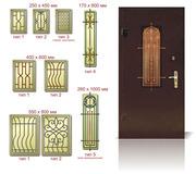 Двери металлические входные,  ворота,  окна из алюминиевого профиля