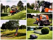 Покос травы и работы на участке,  ландшафтный дизайн